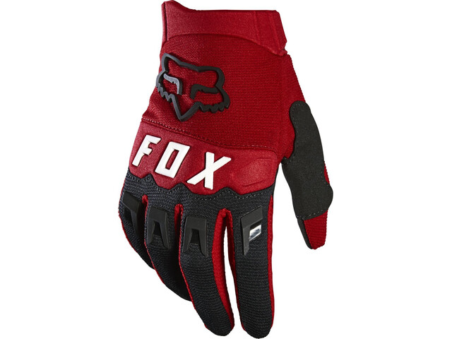 Fox Dirtpaw Guantes Jóvenes, rojo